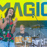 LAS VEGAS - SEP 20: Singer Nasri Atweh and fellow band members of Magic! performs on stage at the 2014 iHeartRadio Music Festival Village on September 20, 2014 in Las Vegas.