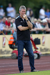 Coach Frank Wormuth of Heracles Almelo during the Friendly match between Preussen Munster and Heracles Almelo at Sportzentrum Helker Berg on July 21, 2018 in Billerbeck, Germany