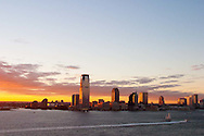 The view of the Jersey Shore from the sky bar at the Ritz Carlton Battery Park in the Financial District of downtown Manhattan