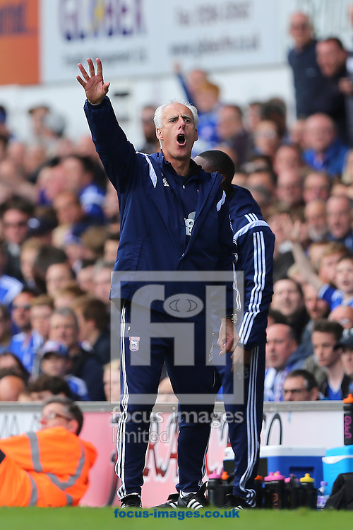 Manager of Ipswich Town, Mick McCarthy during the Sky Bet Championship match at Portman Road, Ipswich<br /> Picture by Richard Calver/Focus Images Ltd +44 7792 981244<br /> 25/04/2015
