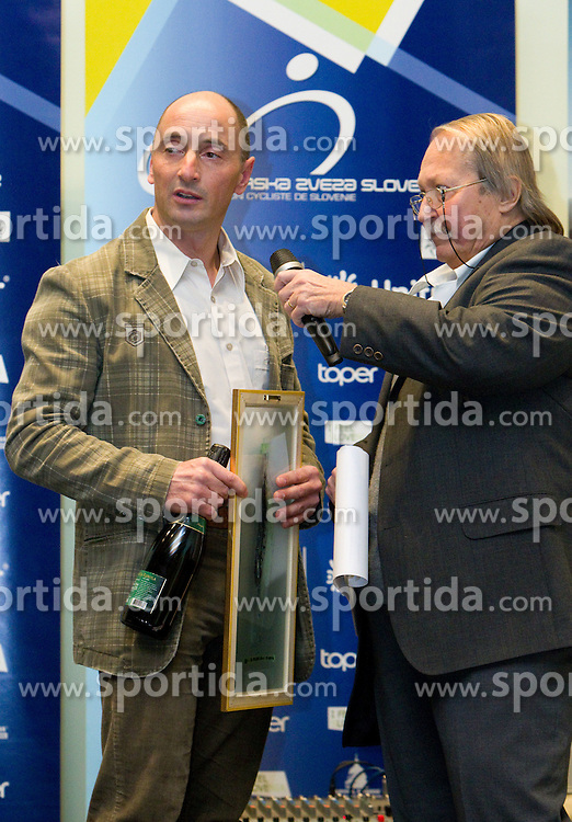 Coach Marko Polanc and Boris Ljubic during the Slovenia's Cyclist of the year award ceremony by Slovenian Cycling Federation KZS, on December 11, 2010 in Hotel Mons, Ljubljana, Slovenia. (Photo By Vid Ponikvar / Sportida.com)