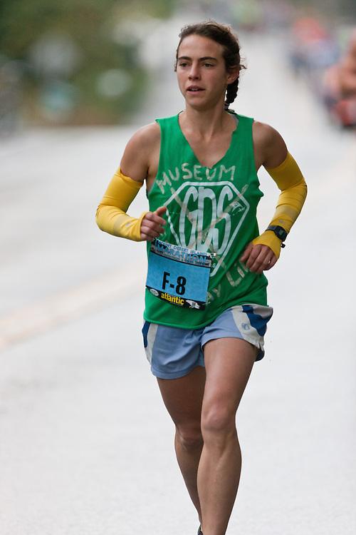 Mount Desert Island Marathon: Leah Frost, women's winner , Leah Frost,