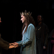 March 24, 2016 - New York, NY : From left, Oliver Ford Davies (as Duke of York) and David Tennant (as Richard II) perform during a photo call/dress rehearsal for The Royal Shakespeare Company's (RSC) Richard II at the Brooklyn Academy of Music's (BAM) Harvey Theater in Brooklyn on Thursday afternoon. The production, which is being directed by RSC Artistic Director Gregory Doran as part of Shakespeare's Great Cycle of Kings, marks the 400th anniversary of William Shakespeare's death.  CREDIT: Karsten Moran for The New York Times
