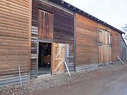 Entrance to the barn that houses Lawrenny Distillery near Hamilton