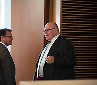 DEU, Deutschland, Germany, Berlin, 18.07.2019: Bundeswirtschaftsminister Peter Altmaier (CDU) nach einer Pressekonferenz zum Thema Reallabore der Energiewende.