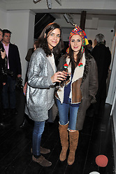 Left to right, GIULIA SEBREGONDI and NAZIFA MOVSOUMOVA at a private view of art works by Annie Morris entitled 'There is A Land Called Loss' held at Pertwee Anderson & Gold Gallery, 15 Bateman Street, London W1 on 2nd February 2012.