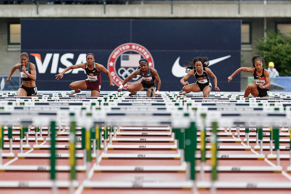 Olympic Trials Eugene 2012: womens' 100 meter hurdles, heat 5,