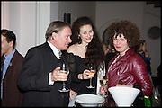 JAMES BIRCH; ELEESA DADIANI; NEDKA BAVLIKU, Allen Jones private view. Royal Academy,  London. 11 November  2014.