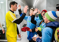 Dominic Thiem of 1st TFC with young fans after the friendly football match between NK Fantazisti (SLO) and 1st TFC - First Tennis & Football Club (AUT) presented by professional and former tennis players, on November 25, 2017 in Nacionalni nogometni center Brdo pri Kranju, Slovenia. Photo by Vid Ponikvar / Sportida