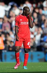 Liverpool's Mario Balotelli cuts a dejected figure - Photo mandatory by-line: Dougie Allward/JMP - Mobile: 07966 386802 - 19/10/2014 - SPORT - football - London - Loftus Road - QPR v Liverpool - Barclays Premier League