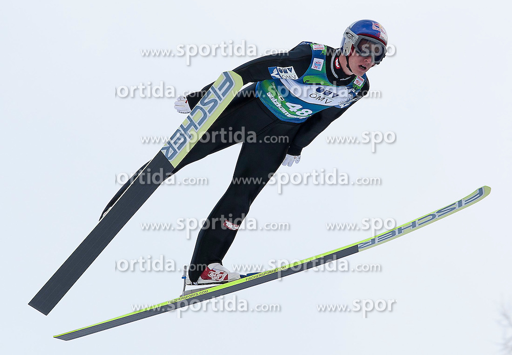15.01.2012, Kulm, Bad Mitterndorf, AUT, FIS Ski Flug Weltcup, erster Durchgang, im Bild Gregor Schlierenzauer (AUT) // Gregor Schlierenzauer from Austria during the first round of FIS Ski Flying World Cup at the 'Kulm', Bad Mitterndorf, Austria on 2012/01/15, EXPA Pictures © 2012, PhotoCredit: EXPA/ Erwin Scheriau