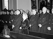 Garda Siochana Diamond Jubilee..1982.21.02,1982.02.21.1982.21st February 1982..Image of Comissioner Mc Laughlin,Mrs McLaughlin and many high ranking Gardai who were in attendance at the Mass in Mt Argus.