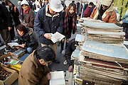People browsing through flea market at Setagaya Tokyo Japan