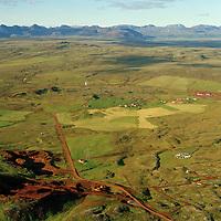 Klausturhólar og Hallkelshólar áður Hólakot séð til norðurs, Grímsnes- og Grafningshreppur / Klausturholar and Hrafnkelshólar former Holakot and probably Moakot. viewing north, Grimsnes- og Grafningshreppur.