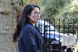 © Licensed to London News Pictures. 22/10/2019. London, UK. Home Secretary PRITI PATEL is seen in Downing Street after attending the weekly cabinet meeting. Photo credit: Dinendra Haria/LNP