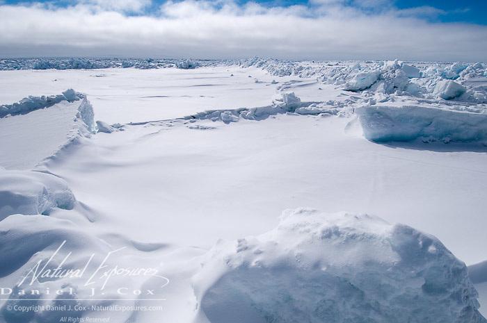 Ice formations on the Beaufort Sea, Alaska