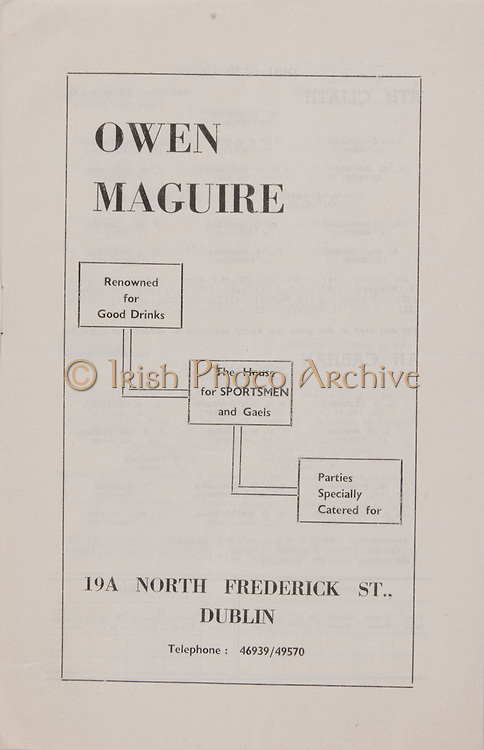 Owen Maguire, 194 North Frederick St, Dublin,