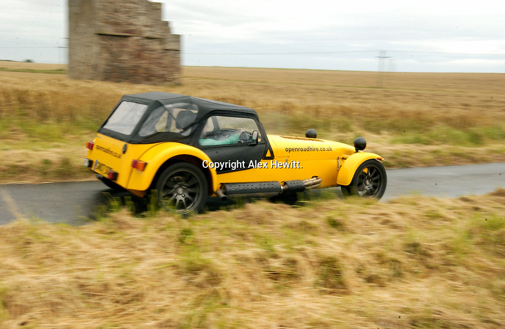 Caterham SV Roadster from Open Road Hire in Perth.openroadhire.co.uk..Copyright Alex Hewitt.07789 871 540.