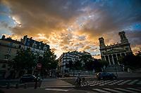 Saint-Vincent de Paul Catholic Church (right), Rue La Fayette