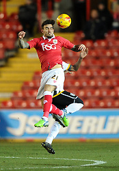 Bristol City's Marlon Pack battles for the high ball - Photo mandatory by-line: Joe Meredith/JMP - Mobile: 07966 386802 - 10/02/2015 - SPORT - Football - Bristol - Ashton Gate - Bristol City v Port Vale - Sky Bet League One