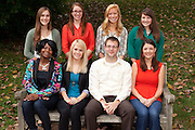 Allen Student Center Graduate Assistants group portrait at Ohio University in Athens, Ohio on Thursday, October 3, 2013. Photo by Chris Franz