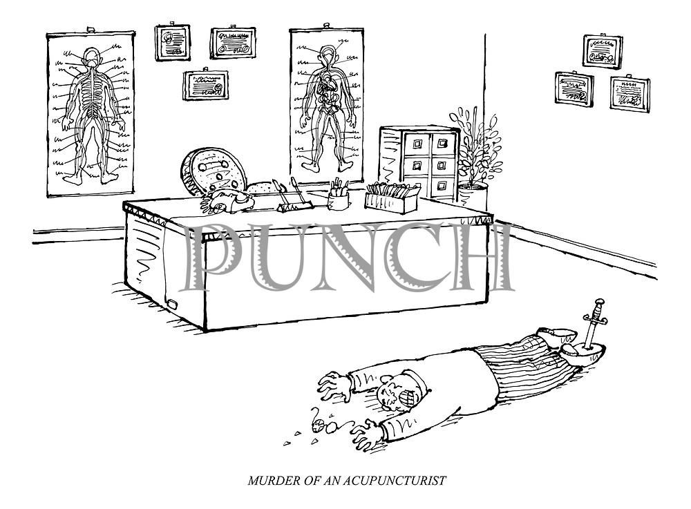 MURDER OF AN ACUPUNCTURIST