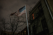 American flag in Brooklyn.  New York, New York, USA
