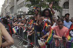 June 25, 2017 - New York City, New York, United States - Participants during the LGBT Pride Parade in the city of New York in the United States this Sunday, 25. (Credit Image: © Shay Horse/NurPhoto via ZUMA Press)