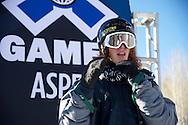Matt Walker during Men's Ski Slopestyle Practice at the 2013 X Games Aspen at Buttermilk Mountain in Aspen, CO.  Brett Wilhelm/ESPN