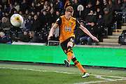 Hull City midfielder Sam Clucas (11) takes corner during the Sky Bet Championship match between Hull City and Brentford at the KC Stadium, Kingston upon Hull, England on 26 April 2016. Photo by Ian Lyall.
