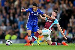 Pedro of Chelsea is challenged by Sam Byram of West Ham United - Rogan Thomson/JMP - 15/08/2016 - FOOTBALL - Stamford Bridge Stadium - London, England - Chelsea v West Ham United - Premier League Opening Weekend.