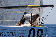 Paoli Bassani, bowman on board Audi TP52 Powered by Q8 during the practice race of the AUDI Medcup in Cartagena