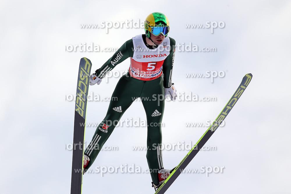 28.12.2013, Schattenbergschanze, Oberstdorf, GER, FIS Ski Sprung Weltcup, 62. Vierschanzentournee, Garmisch Partenkirchen, Bewerb, im Bild Daniel Wenig // Daniel Wenig during Competition of 62th Four Hills Tournament of FIS Ski Jumping World Cup at the at the Schattenbergschanze in Oberstdorf, Germany on 2013/12/28. EXPA Pictures &copy; 2014, PhotoCredit: EXPA/ Sammy Minkoff<br /> <br /> *****ATTENTION - OUT of GER*****