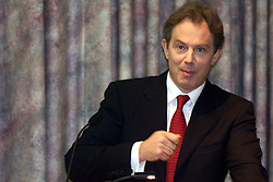 Tony Blair addressing a special gathering of surgeons and physicians from across the NHS as part of the bi-centennial celebrations of the Royal College of Surgeons. Lincoln's inn Field, London, October 17, 2000. Photo by Andrew Parsons/i-Images...