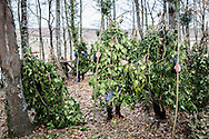 Satriano di Lucania, Basilicata, Italia, 07/02/2016<br /> Rumita pronti per la partenza della Foresta che cammina, a Satriano di Lucania<br /> <br /> Satriano di Lucania, Basilicata, Italy, 07/02/2016<br /> Rumita (hermits) ready for the start of the &ldquo;La Foresta che cammina&rdquo; (Forest Walking) in Satriano di Lucania