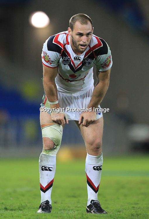 NRL - Titans v Warriors, Skilled Park Gold Coast 7 July 2012<br /> Warriors' Simon Mannering celebrates<br /> Photo : Jason O'Brien / Photosport