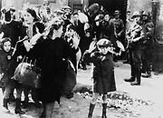 Photo from Jürgen Stroop Report to Heinrich Himmler from May 1943.jews captured after the destruction of teh warsaw ghetto in poland 1943