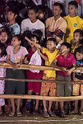 Spectators at Night Football Game in the streets of Myeik, Myanmar