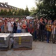 Brand sporthal Huizermaatschool Huizen, overzicht publiek