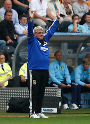 Hull City Manager,Steve Bruce  - Photo mandatory by-line: Matt Bunn/JMP - Tel: Mobile: 07966 386802 24/08/2013 - SPORT - FOOTBALL - KC Stadium - Hull -  Hull City V Norwich City - Barclays Premier League