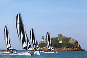 Coastlines / landscapes through water sports, Brittany, France.