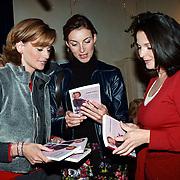 Boekpresentatie Daphne Deckers, Daphne Deckers, Irene van Laar en Judith de Bruijn