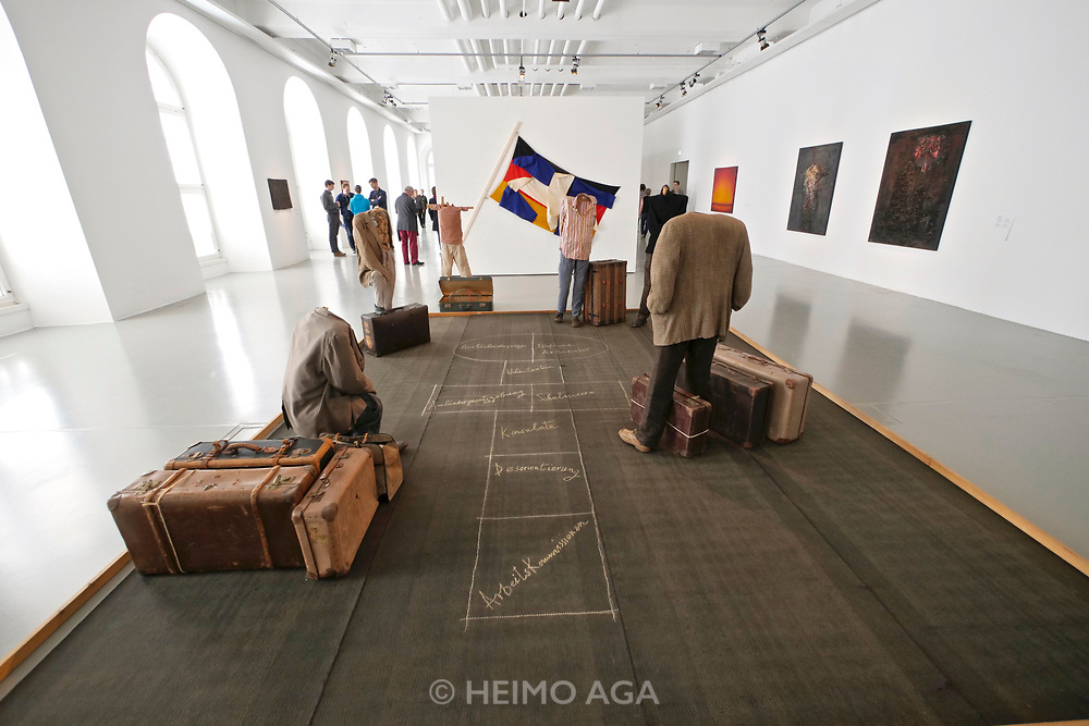 Kassel, Germany. Opening days of documenta14.<br /> Fridericianum.<br /> Vlassis Caniaris: Hopscotch (1974)