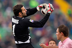 Samir Handanovic of Udinese during football match between Udinese Calcio and Palermo in 8th Round of Italian Seria A league, on October 24, 2010 at Stadium Friuli, Udine, Italy.  Udinese defeated Palermo 2 - 1. (Photo By Vid Ponikvar / Sportida.com)