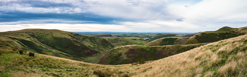 29th August 2016. Looking north into Dormount Hope from Lamb Hill on Anglo Scot Border and the Pennine Way.