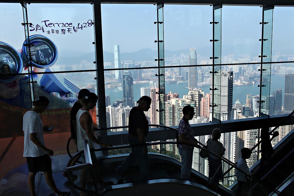 Escalator at The Peak, Hong Kong, China; September, 2013.