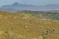 Riders near Teslersdal during stage 1 of the 2017 Absa Cape Epic Mountain Bike stage race held from Hermanus High School in Hermanus, South Africa on the 20th March 2017<br /> <br /> Photo by Greg Beadle/Cape Epic/SPORTZPICS<br /> <br /> PLEASE ENSURE THE APPROPRIATE CREDIT IS GIVEN TO THE PHOTOGRAPHER AND SPORTZPICS ALONG WITH THE ABSA CAPE EPIC<br /> <br /> ace2016