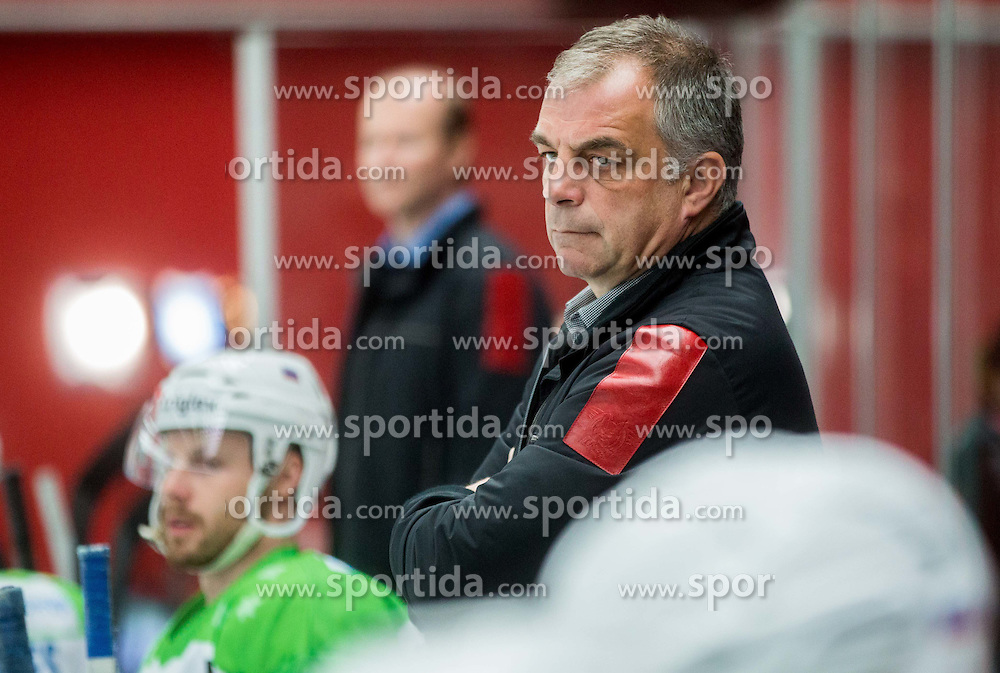 Matjaz Kopitar, head coach of Slovenia during ice-hockey friendly match between National teams of Slovenia and Japan, on April 15, 2015 in Arena Podmezakla, Jesenice, Slovenia. Photo by Vid Ponikvar / Sportida