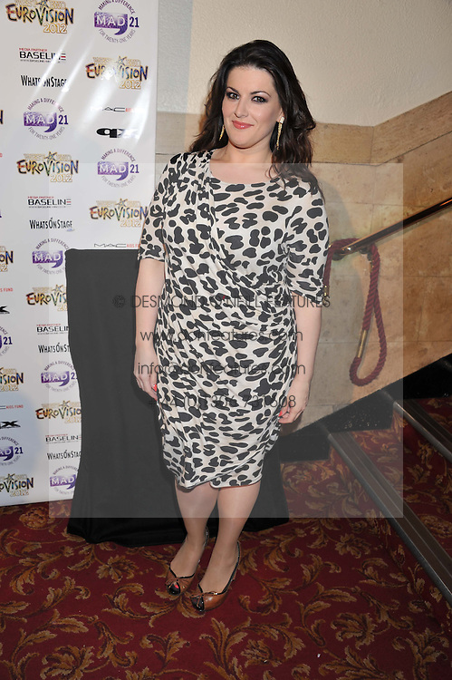 JODIE PRENGER at the 5th annual West End Eurovision in aid of the make A Difference Trust held at The Dominion Theatre, London on 26th April 2012.