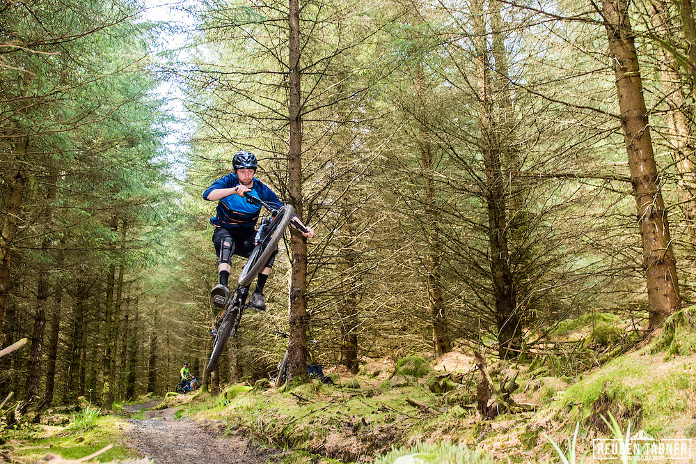 Ed Thomsett throws some moves at Kielder Forest on his Vitus Sommet CR.